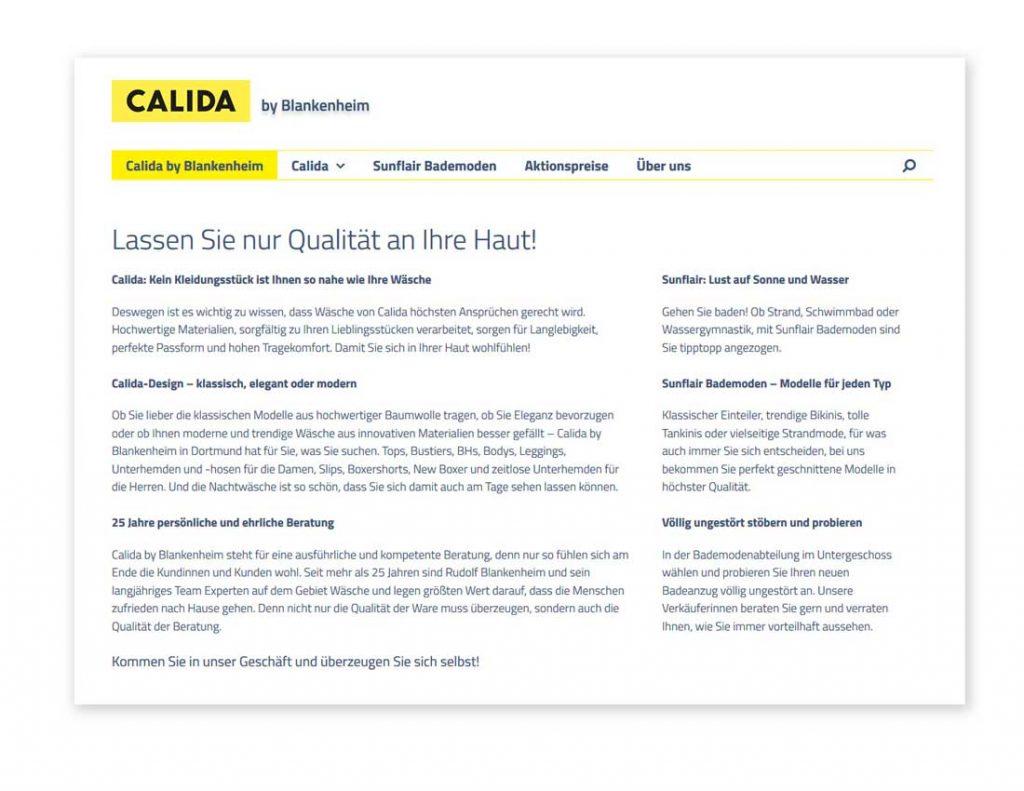 Calida-und Sunflair-Geschäft in Dortmund