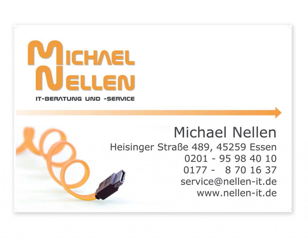 Firmenschild und Visitenkarten